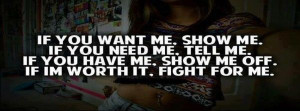 If you want me...show me off....