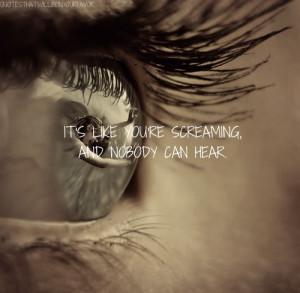 ... quotes lyric quotes lyrics screaming alone depression heartbreak