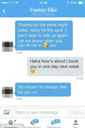 ... of the messages Ben has received from women who follow him on Twitter