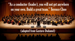 leadership quote conductor building team 300x167 Leadership Quotes