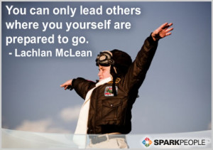 Motivational Quote - You can only lead others where you yourself are ...