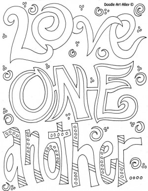Coloring Page - Love one another.