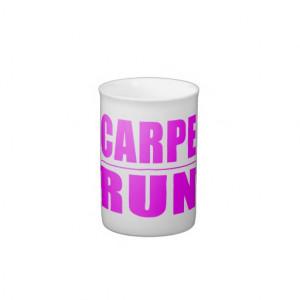 Funny Girl Runners Quotes : Carpe Run Bone China Mugs