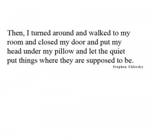 quote lonely person alone shy the perks of being a wallflower quotes ...