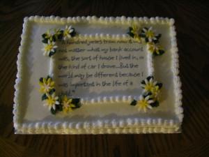 Principal Retirement Cake — Retirement