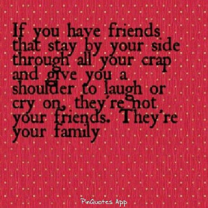 True loyal friends equals family