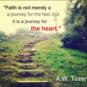 That's what the journey is, the path to Jesus.