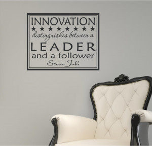 Business Innovation Quotes 22x17 innovation leader steve