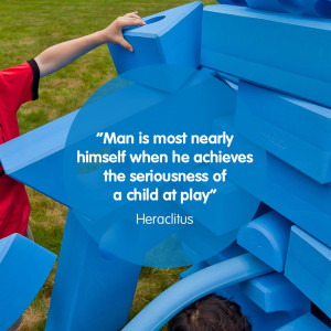 Inspirational quote from Heraclitus about man and play