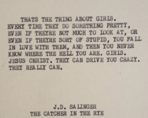 Catcher In The Rye Quotes The catcher in the rye: