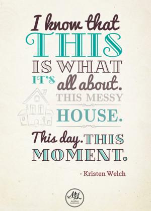 Kristen Welch Quote - design by insight