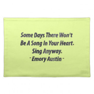 Inspirational Quotes Placemats