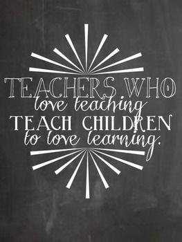 TEACHING AND LEARNING CHALKBOARD QUOTES - TeachersPayTeachers.com
