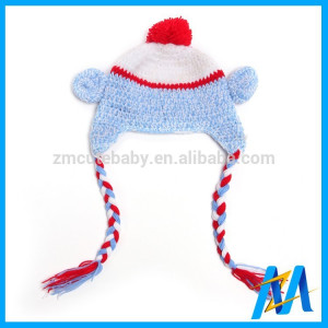 ... Baby Costume Hand Crocheted Earflap Hat Funny Winter Hats For Baby
