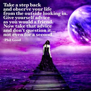 Take a step back and observe