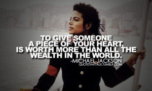 """For me, Love is something very pure.""""- Michael Jackson"""