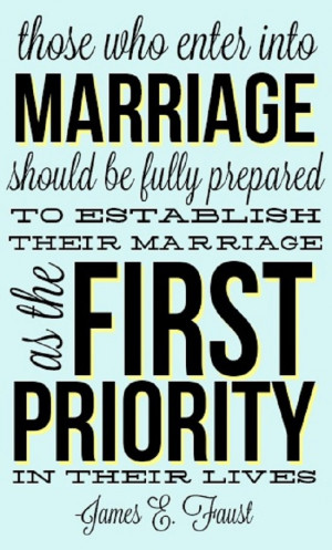 Make Marriage Your Priority