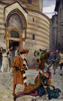 ... The Death of Mercutio Romeo's Friend , Edwin Austin Abbey, 1904