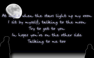 Talking To The Moon - Bruno Mars Song Lyric Quote in Text Image