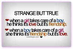 strange but true cute friendship quote girl hearts boy relationship ...