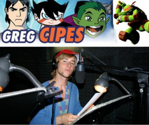 ... nickelodeon names greg cipes the many voices of gregory michael