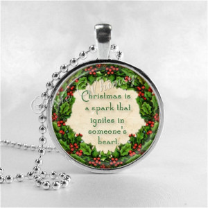 QUOTE Necklace, Christmas Necklace, Book Pendant Jewelry, Literary ...