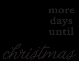 Chalkboard Days Until Christmas Wall Quotes™ Decal