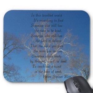 Mouse Pad with a poem by Helen Steiner Rice