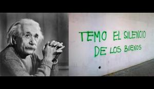 """Frase de Albert Einstein : """"El mundo no está en peligro por las ..."""