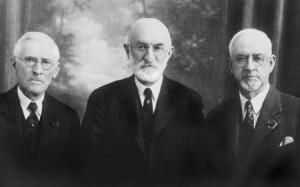 Anthony W. Ivins, Heber J. Grant, Charles W. Nibley