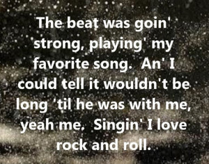& The Blackhearts - I Love Rock and Roll - song lyrics, song quotes ...
