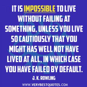 failing quotes, failure quotes, living life quotes