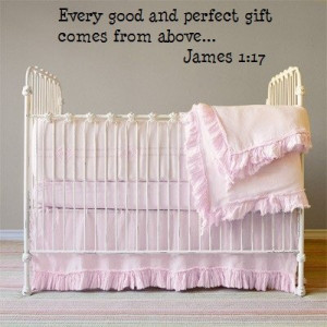Every Good and Perfect gift Christian wall quote decals [Kitchen