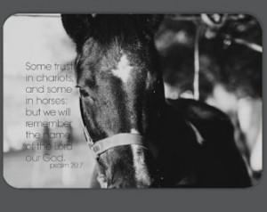 Scripture Horse Magnet Bible Verse Bumper Sticker Equine Christian ...
