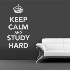 Study Hard Quotes Quote keep calm study hard