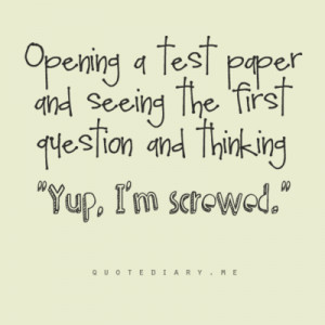 tests in school funny funny quotes about tests in school funny quotes ...