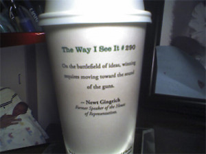 starbucks coffee cup quotes. This was on my cup of Starbucks coffee ...