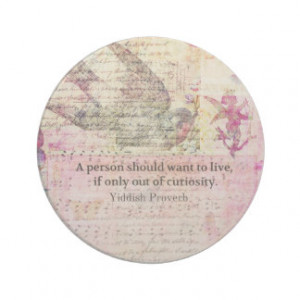 Humorous Yiddish Proverb about LIFE Drink Coaster
