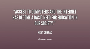 Access to computers and the Internet has become a basic need for ...
