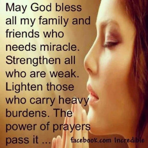 Prayer for family strength