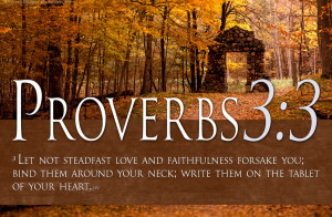 Bible Verses On Love Proverbs 3:3 Scripture Christian HD Wallpaper
