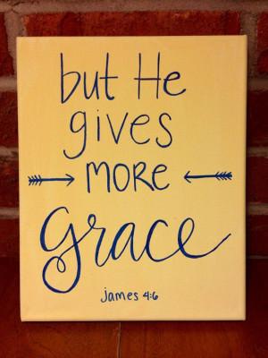 grace upon grace bible verse canvas hand lettering