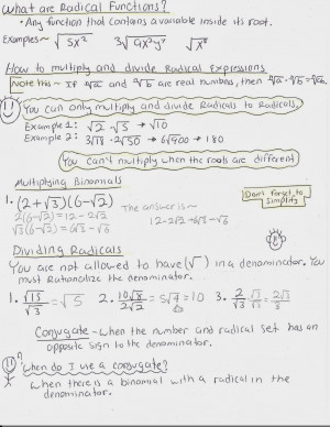 Radical Functions and Rational Exponents!