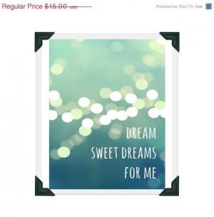 ... Sweet Dreams For Me Lyrics Typography Art Print 8x10 - Beatles