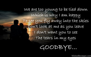 Heartbreaking goodbye message to a boy from a girl