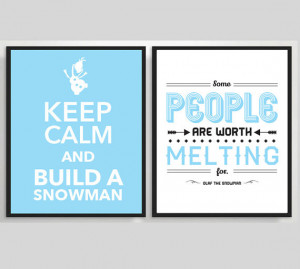 ... Snowman Printable Poster, Typography Print, Quote Print, Movie Poster