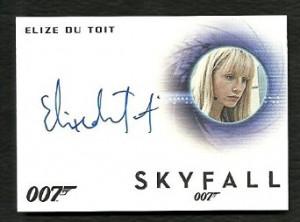James Bond Archives Autograph A255 ELIZE DU TOIT Skyfall LIMITED