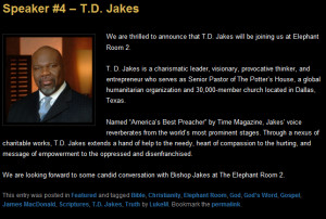 ... and mark driscoll is none other than oneness pentecostal t d jakes
