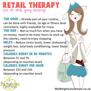 ... under control and retail therapy can turn into exercise in no time