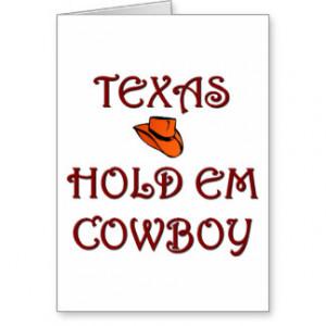 Texas Hold em Cowboy Card